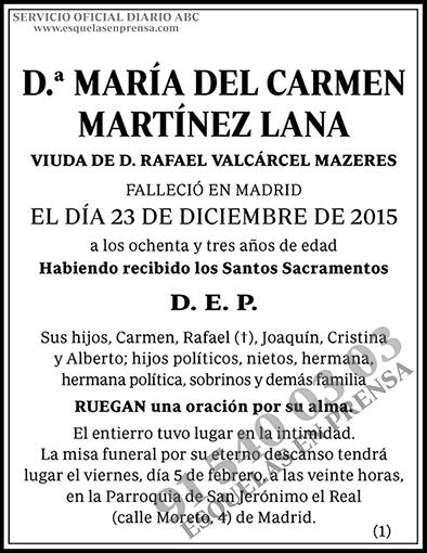 María del Carmen Martínez Lana